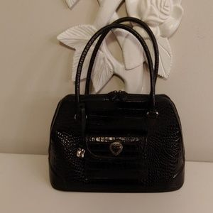 Brighton black leather satchel